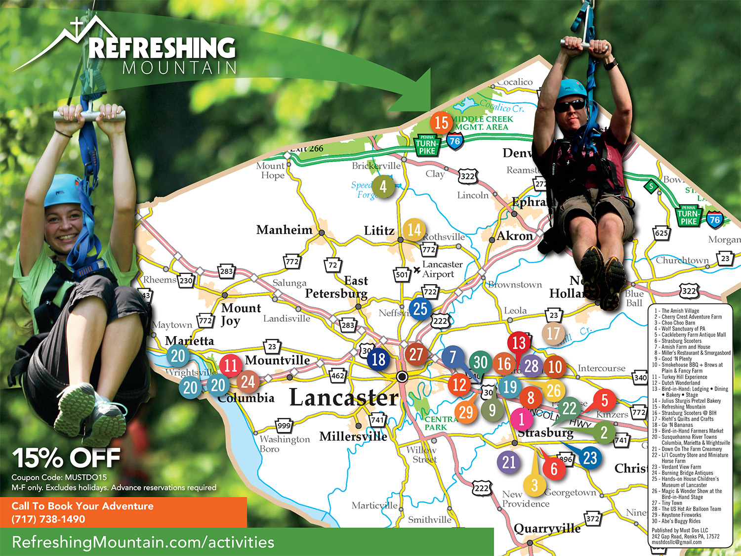 Lancaster County Must-Dos | Map on